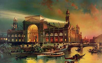 Chicago Reflections Painting - World Columbian Exposition - Chicago Illinois 1892 by Mountain Dreams