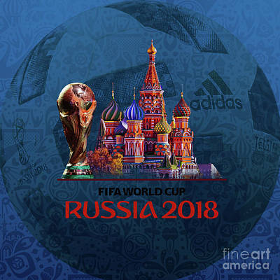 Painting - World Cup In Russia 2018 by Gull G