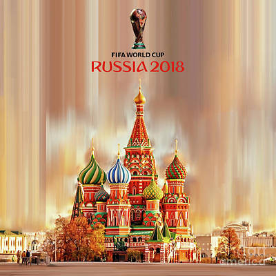 Painting - World Cup Russia 2018  by Gull G