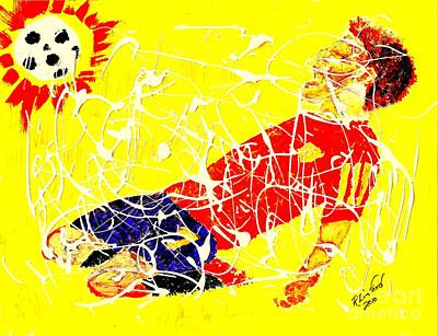 Painting - World Cup Spain 1 0 In 2010 by Richard W Linford