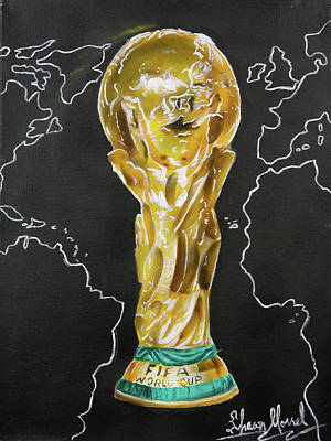 World Cup Trophy Art Print by Shawn Morrel