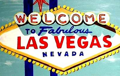 Painting - World Famous Las Vegas Sign Daytime by Teo Alfonso