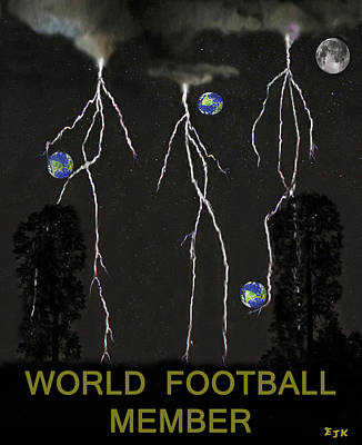 Canadian Sports Mixed Media - World Football Member by Eric Kempson