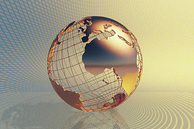 Photograph - World Global Business Background by Johan Swanepoel
