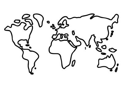 World Drawing - World Globe by Lineamentum