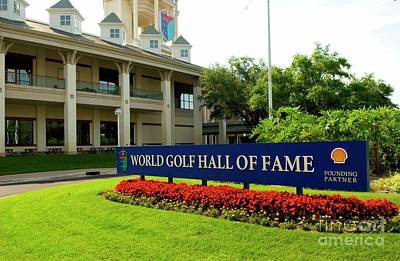 Photograph - World Golf Hall Of Fame Sign by Bob Pardue