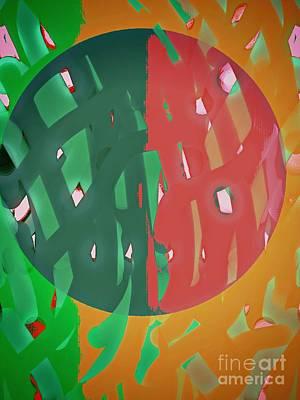 World Gone Ticker Tape Art Print by Marie Ward-Alonge