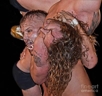 Tattoo Photograph - World Heavyweight Champion War Pig Jody Prepares To Slam The Golden Boy Dylan Drake by Jim Fitzpatrick