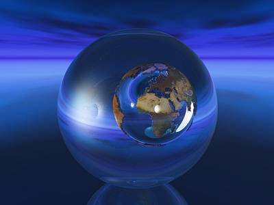 Beautiful Digital Art - World In A Sphere by Alexandra Kleist