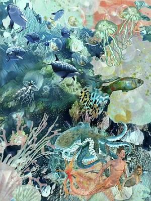Mixed Media - World In The Sea by Susanne Baumann