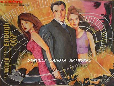 Intezaar Painting - World Is Not Enough by Sandeep Kumar Sahota