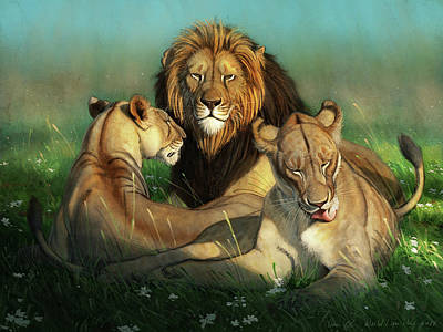 Digital Art - World Lion Day by Aaron Blaise