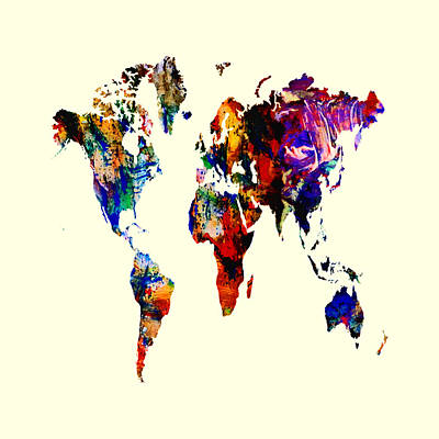 World Map 02 Art Print