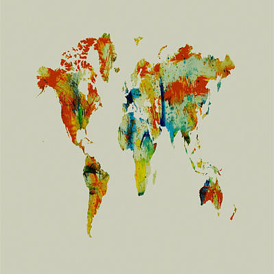 World Map 05 Art Print