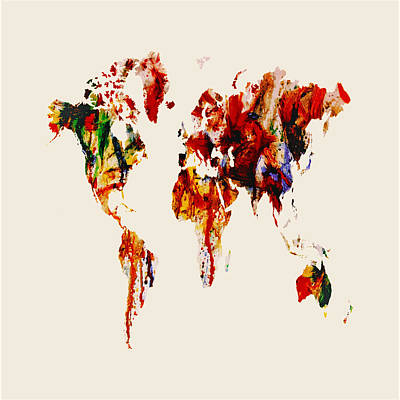 World Map 06 Art Print