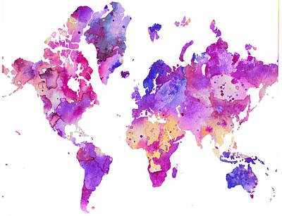 World Map 1 Art Print by Donny Art