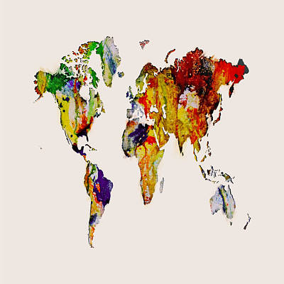 World Map 14 Art Print