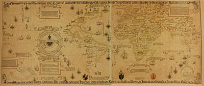 Photograph - World Map 1529 by Andrew Fare