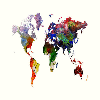 World Map 16 Art Print