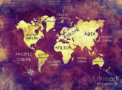 World Map 17 Art Print