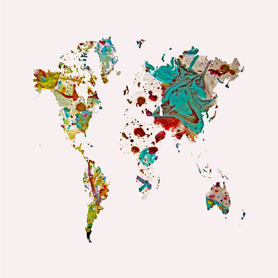 World Map 5b Art Print