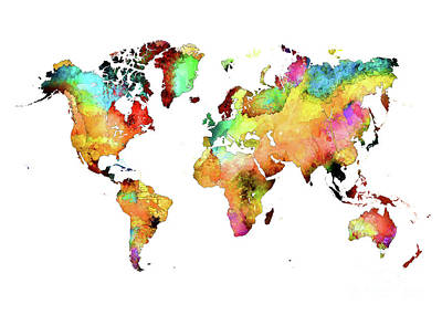 World Map Art 71 Art Print