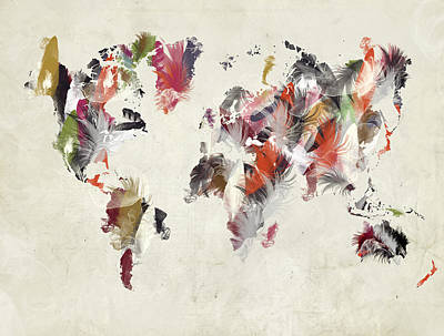 Painting - World Map  by Bri B