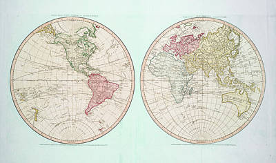Photograph - World Map By William Faden by C H Apperson