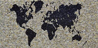 Mixed Media - World Map by Doug Powell