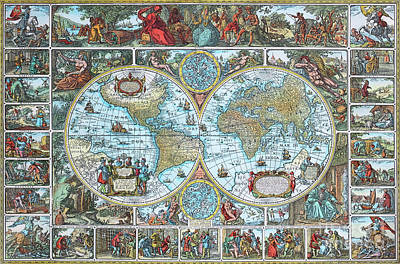 Photograph - World Map by Jutta Maria Pusl