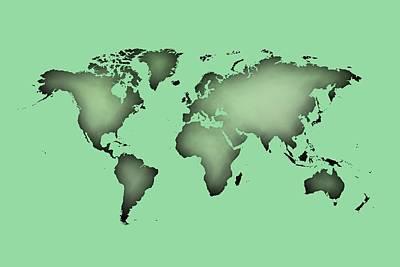 World Map Digital Art - World Map Of The World.tranport.1 by Alberto RuiZ
