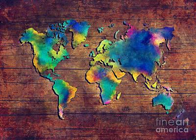 World Map Watercolor 2 Art Print by Justyna JBJart