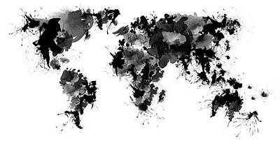 America Digital Art - World Maps 6 by Prar Kulasekara