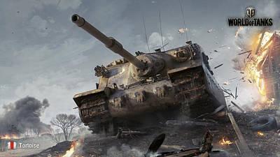 Tank Digital Art - World Of Tanks                    by Fran Sotu