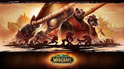 Pandaria Digital Art - World Of Warcraft Mists Of Pandaria by Barbara Elvins