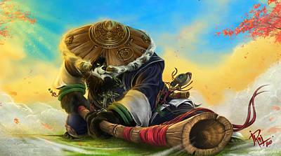 Pandaria Digital Art - World Of Warcraft Mists Of Pandaria by Zia Low