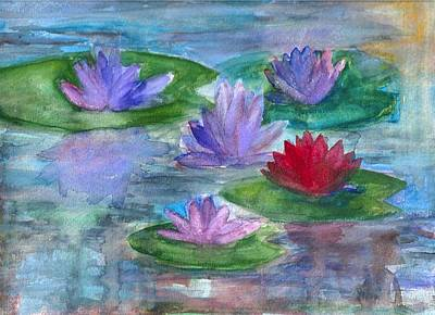 Painting - World Of Water Lilies by Claudia Smaletz
