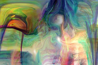Abstract Movement Digital Art - World Of Wonder by Linda Sannuti
