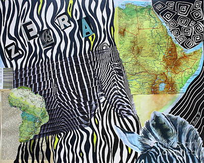 Painting - World Of Zebras by Barbara Teller