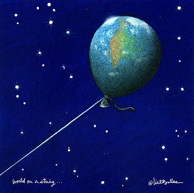 Painting - World On A String... by Will Bullas