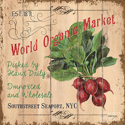World Organic Market Art Print by Debbie DeWitt