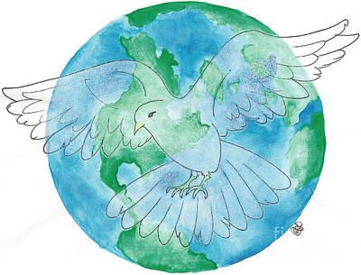 Painting - World Peace by Debi Hammond