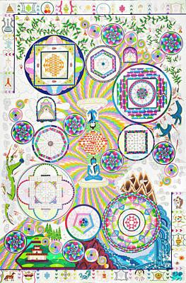 Mixed Media - World Peace Mandala by Therese Black