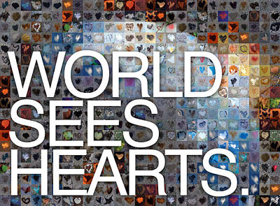 Hearts On Trees Photograph - World Sees Hearts by Boy Sees Hearts