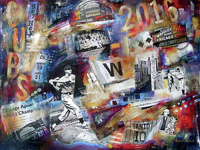 Wrigley Field Painting - World Series 2016 by Kathleen Patrick