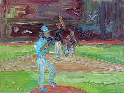 Cleveland Indians Painting - World Series Cubs-indians  by John Kilduff