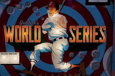 World Series Pinball Art Print by Colleen Kammerer