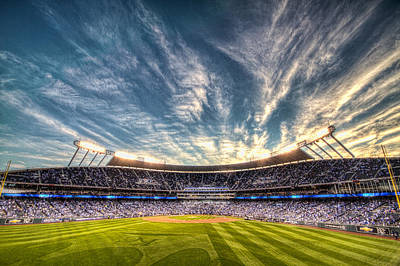 World Series Sunset Art Print