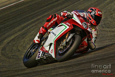 Photograph - World Superbike Leon Camier by Blake Richards