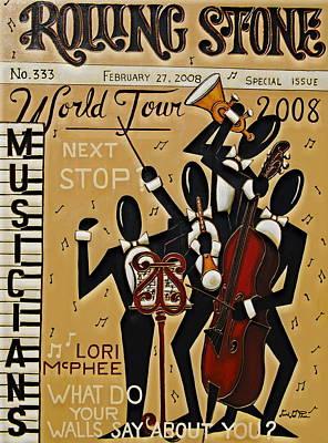 Jazz Painting - World Tour by Lori McPhee